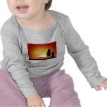 Mamáes y puesta del sol camiseta