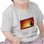 Mamáes y puesta del sol camisetas