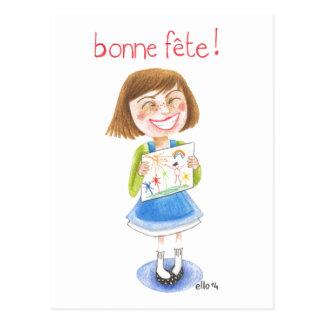 ¡Maman del fête de Bonne! Postales