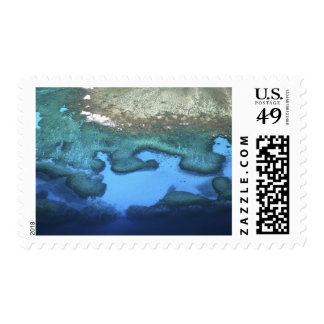 Mamanuca Island Group, Coral Reefs - aerial Postage