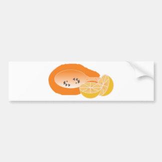 mamao e laranja fruta de fazer vitamina bebida bumper sticker