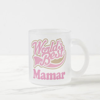Mamar Gift Pink Frosted Glass Coffee Mug