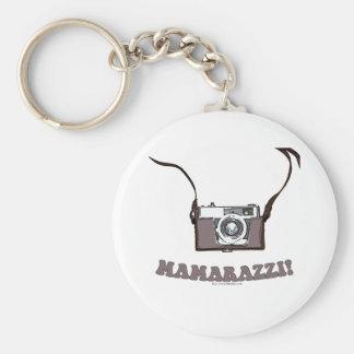 Mamarazzi! Basic Round Button Keychain