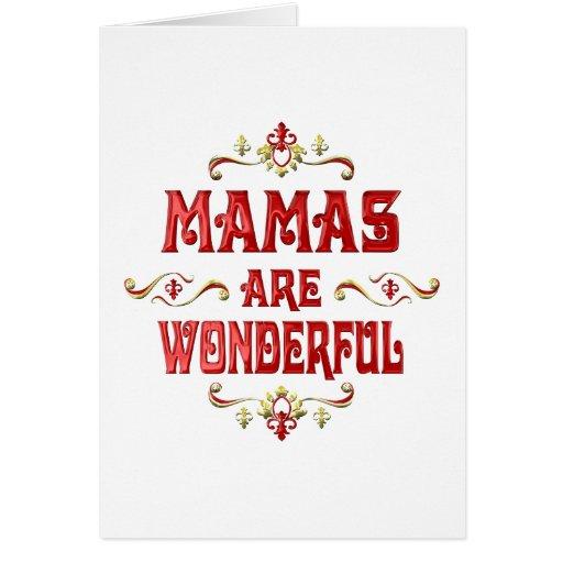 Mamas are Wonderful Greeting Card