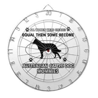 Mamás australianas del perro del ganado tabla dardos