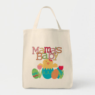 Mama's Baby - Girl Chick Easter T-shirts and Gifts Grocery Tote Bag