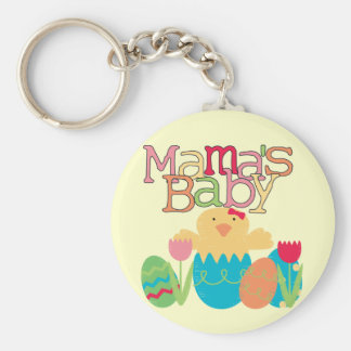 Mama's Baby - Girl Chick Easter T-shirts and Gifts Keychain