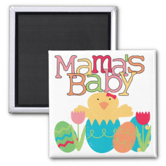 Mama's Baby - Girl Chick Easter T-shirts and Gifts 2 Inch Square Magnet