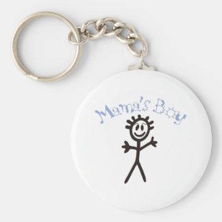 Mama's Boy Basic Round Button Keychain