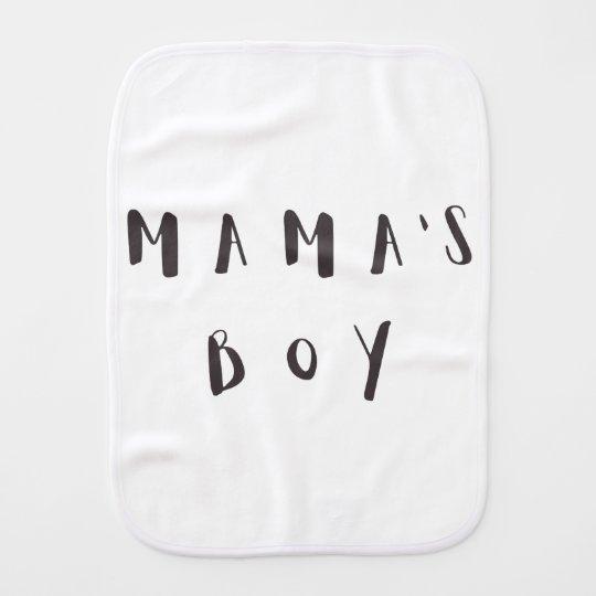 Mama\'s Boy - Fun quote Burp Cloth