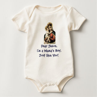 Mama's Boy Like Jesus, Infant Baby Bodysuit