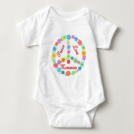 Mamás del amor de la paz camiseta