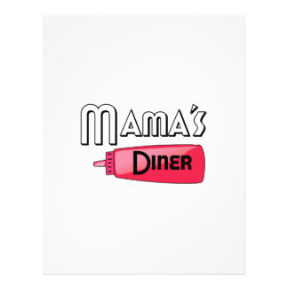 Mama's Diner Personalized Letterhead