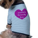 Mama's Favorite Boy Dog T-shirt