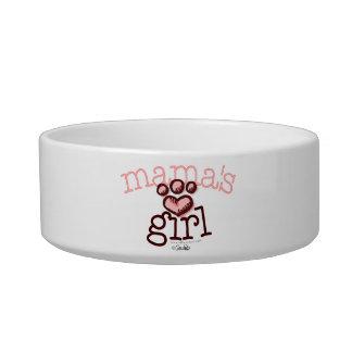 Mama's Girl Cat Pink Paw Print Heart Bowl