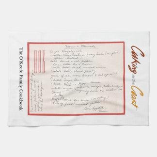 Mama's Handwritten Marinade Recipe Hand Towels