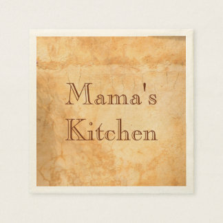 Mama's kitchen Italian style terracotta Paper Napkin