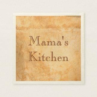 Mama's kitchen Italian style terracotta Standard Cocktail Napkin