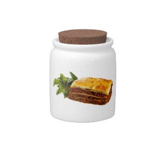 """Mama's Lasagne"" design candy jar"