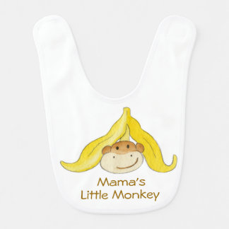 Mama's Little Monkey baby bib