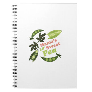 Mamas Sweet Pea Spiral Note Book