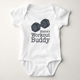 Mama's Workout Buddy Baby Bodysuit