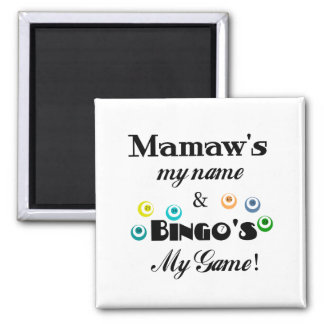 Mamaw and Bingo 2 Inch Square Magnet