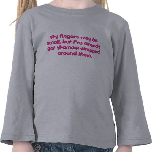 Mamaw envuelto (rosa) camisetas