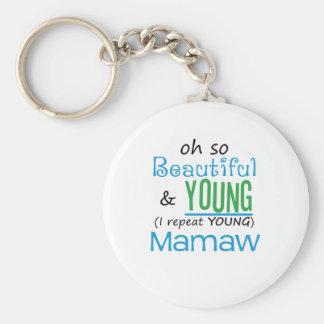 Mamaw hermoso y joven llaveros personalizados