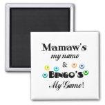 Mamaw y bingo imán de frigorífico