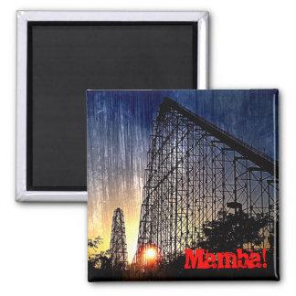 Mamba Rollercoaster World's of Fun Kansas City 2 Inch Square Magnet