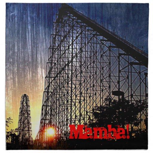 Mamba Rollercoaster World's of Fun Kansas City Cloth Napkin