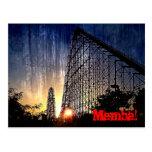Mamba Rollercoaster World's of Fun Kansas City Postcard