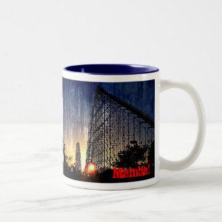 Mamba Rollercoaster World's of Fun Kansas City Two-Tone Coffee Mug