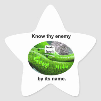 Mamba Snake - Know Thy Enemy By Its Name Star Sticker