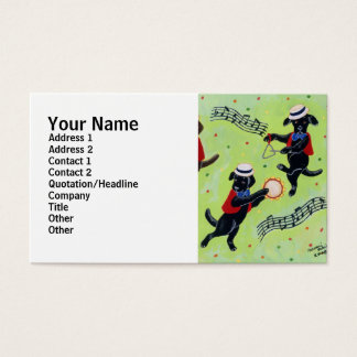 Mambo Labrador Musicians Painting Business Card