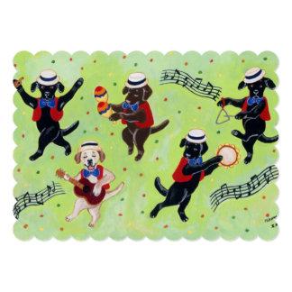 Mambo Labrador Musicians Painting Card