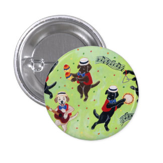 Mambo Labrador Musicians Painting Pinback Button