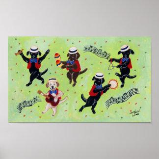 Mambo Labradors Artwork Poster