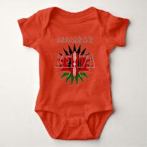 Mamboz Colorful Baby Kids Kenya pattern design Baby Bodysuit