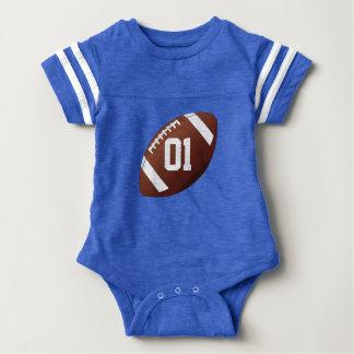 Mameluco de encargo del jersey del bebé del fútbol