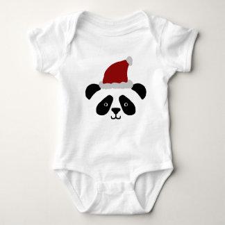Mameluco del bebé de la panda de Santa