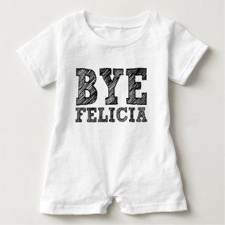Mameluco divertido del bebé de Felicia del adiós