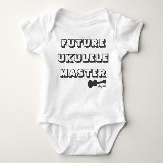 Mameluco futuro del bebé del amo del Ukulele