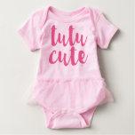 Mameluco lindo del tutú de la niña del tutú rosado