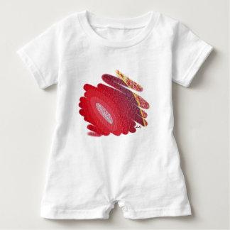Mameluco rojo del bebé del arte de los espirales