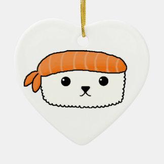 Mamesushi - decoración linda del sushi adorno de cerámica en forma de corazón