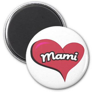 Mami Heart Refrigerator Magnet