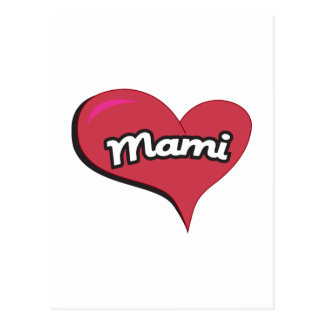 Mami Heart Postcard