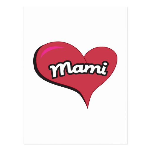 Mami Heart Post Cards